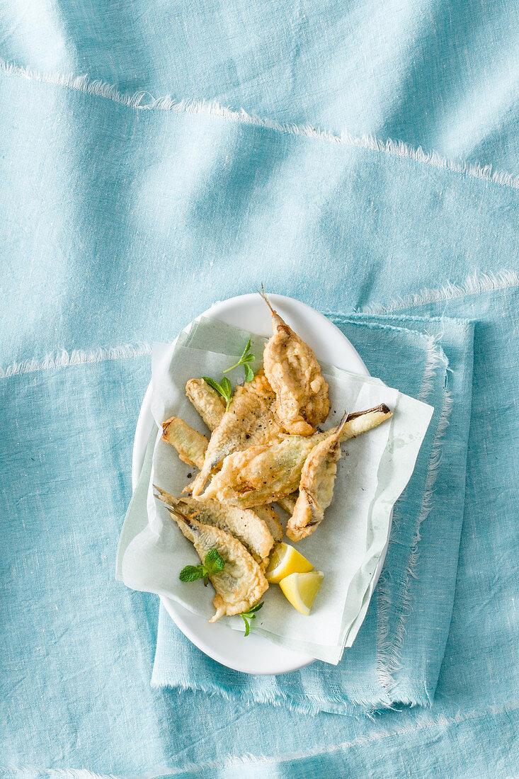 Sardine tempura
