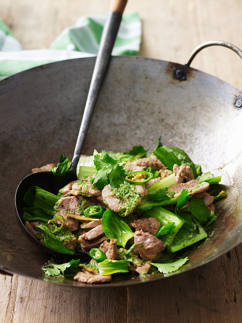 Stir-Fried Thai Coconut and Coriander Pork