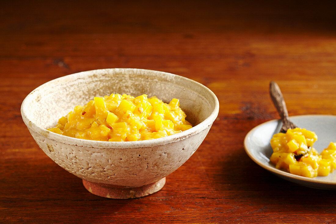 Home-made mango chutney