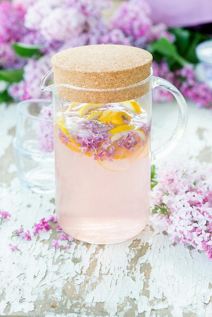 Refreshing lilac lemonade