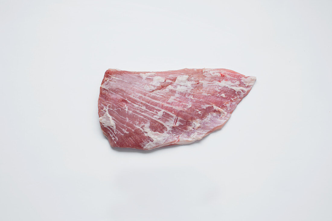 Pork 'fan' muscle between the back and bacon cuts