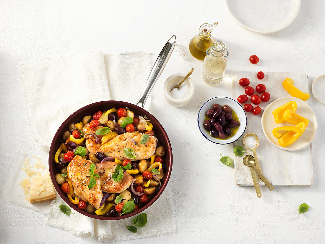 Vegetables with chicken breast