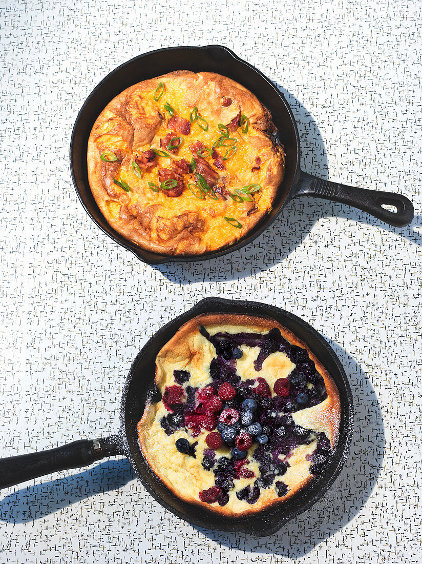 Omelette: sweet and savoury
