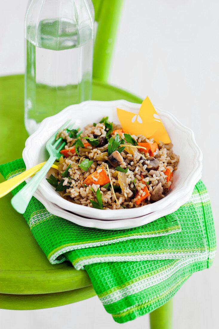 Gluten-free Brown Rice Pilaf