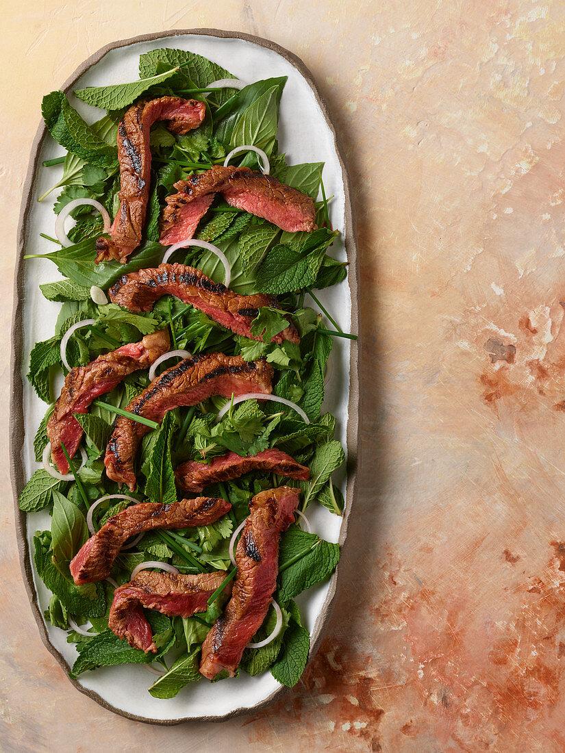 Thai Steak and herb salad (Thailand)