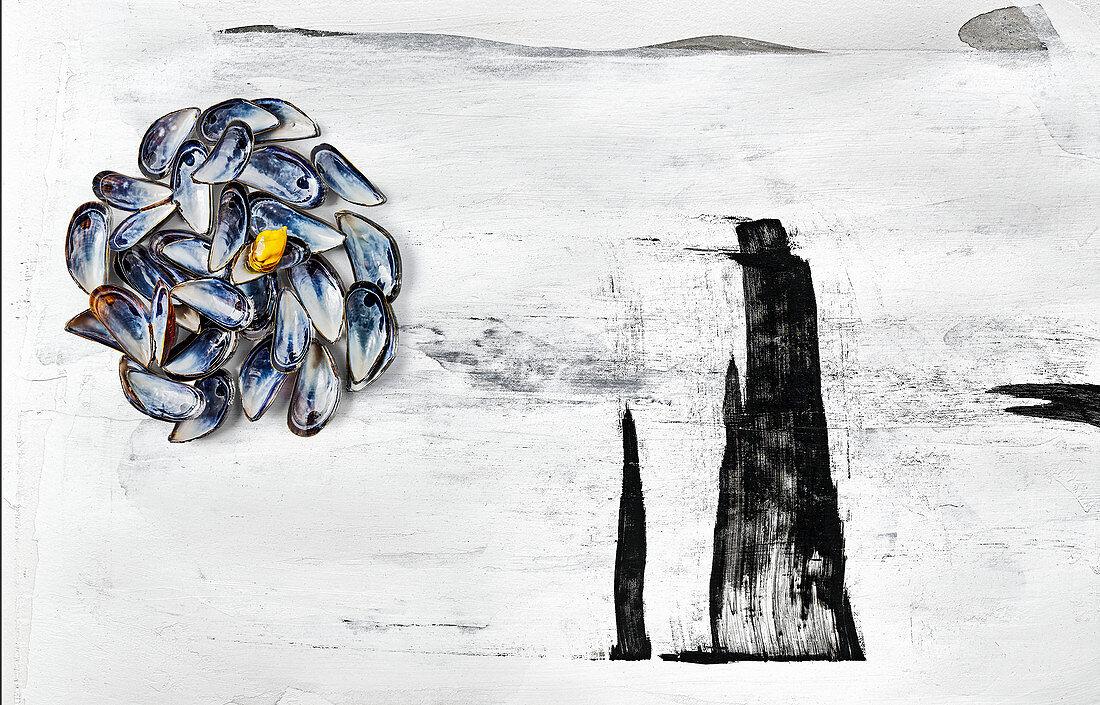 Food art: mussels