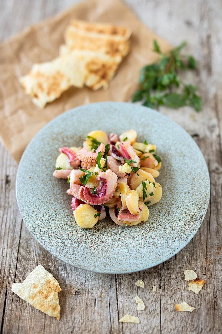 Sardinian potato and octopus salad