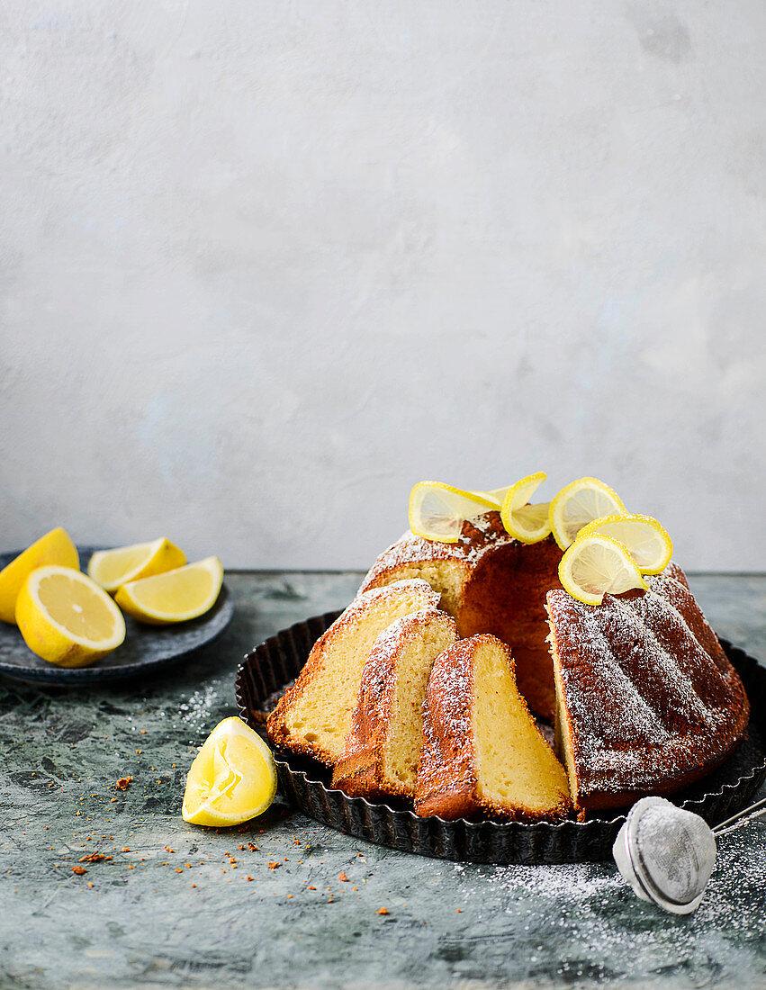 A lemon gugelhupf