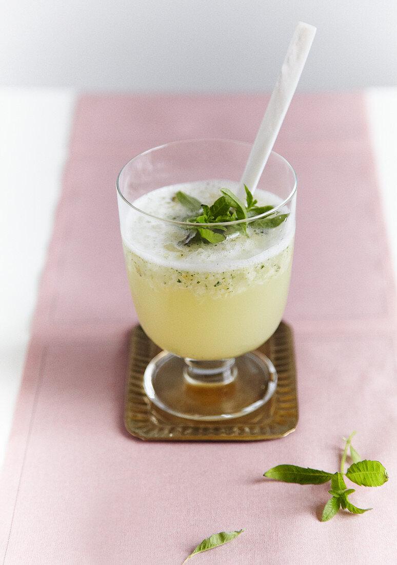 Bergamot spritzer with lemon verbena