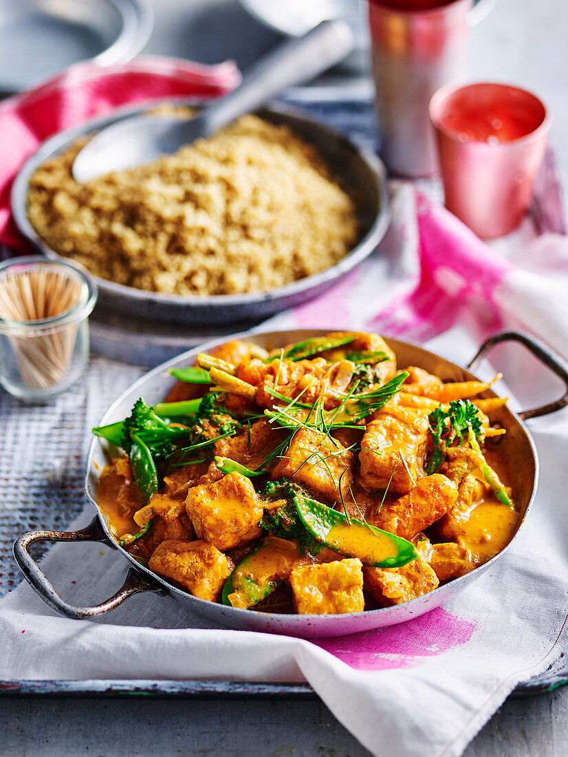 Tofu and Vegetable Red Curry