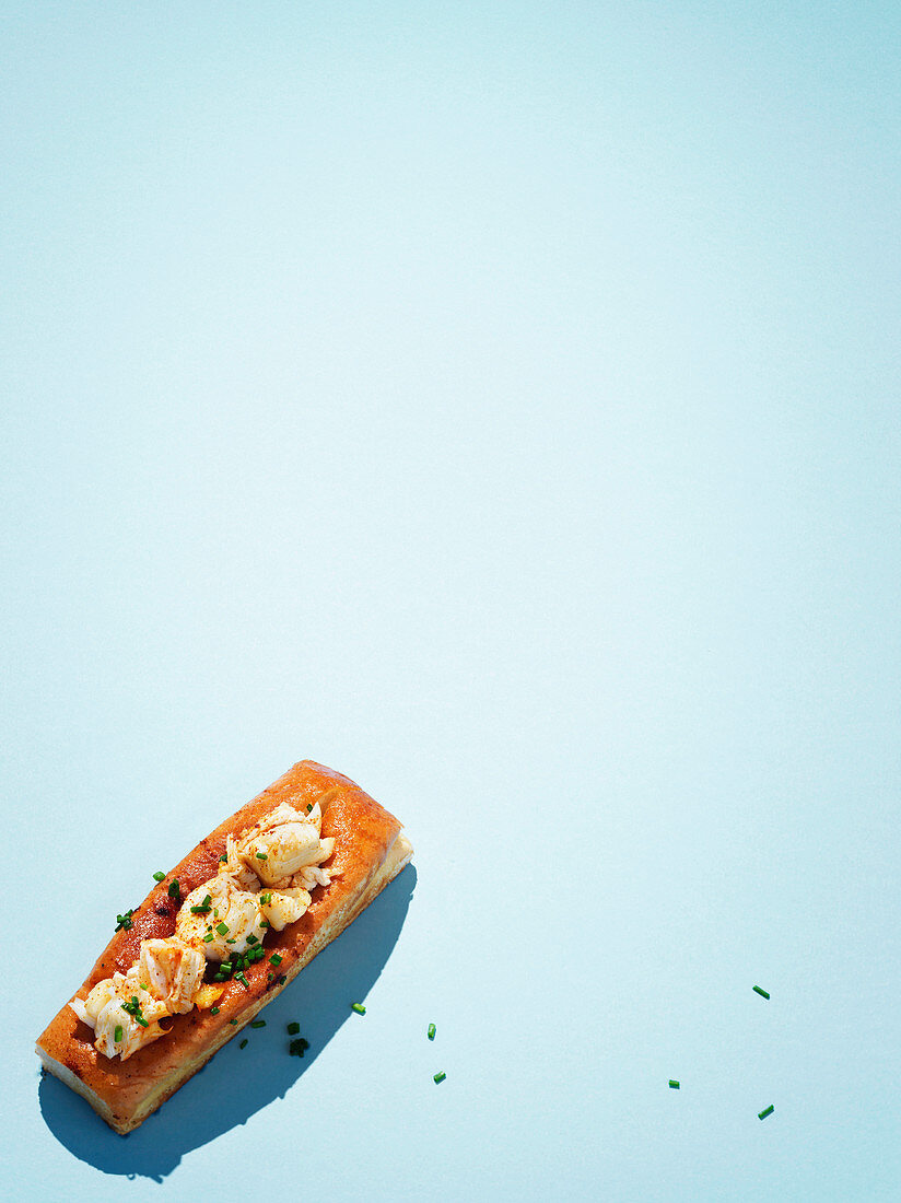 Hot buttered lobster roll