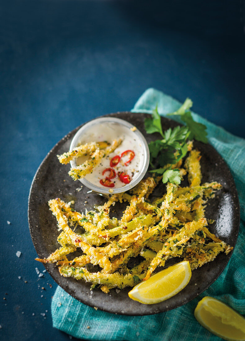 Baby marrow shoestring 'fries'