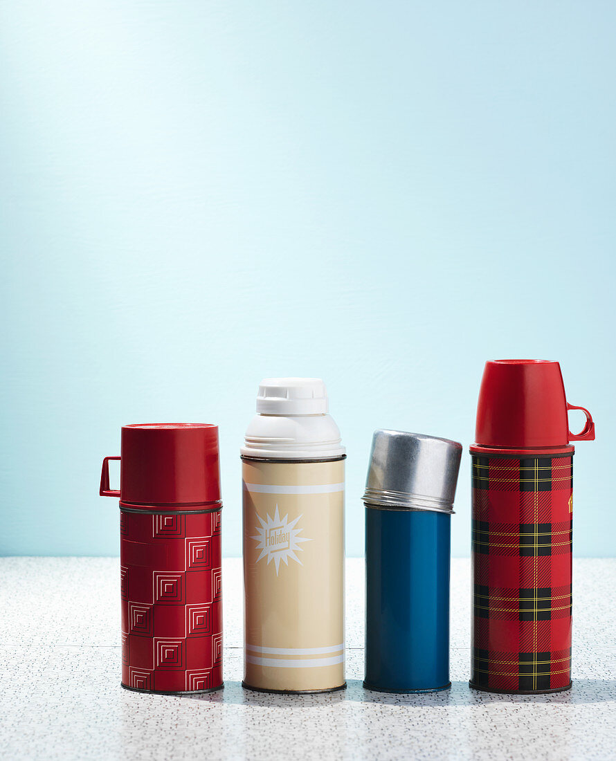 Various thermos flasks