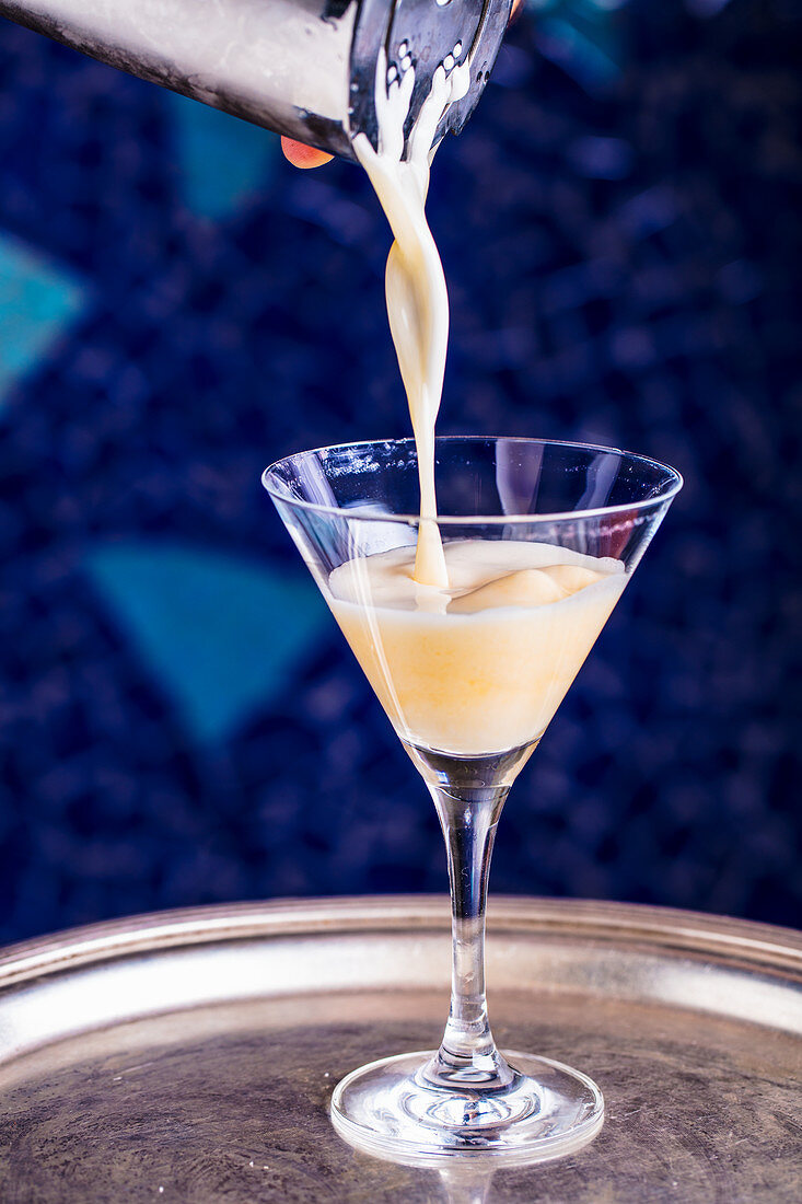 A brandy Alexander cocktail