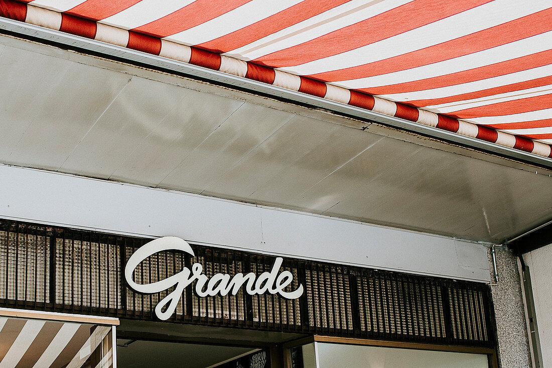 Facade of the Grande Café & Bar (Zurich, Switzerland)