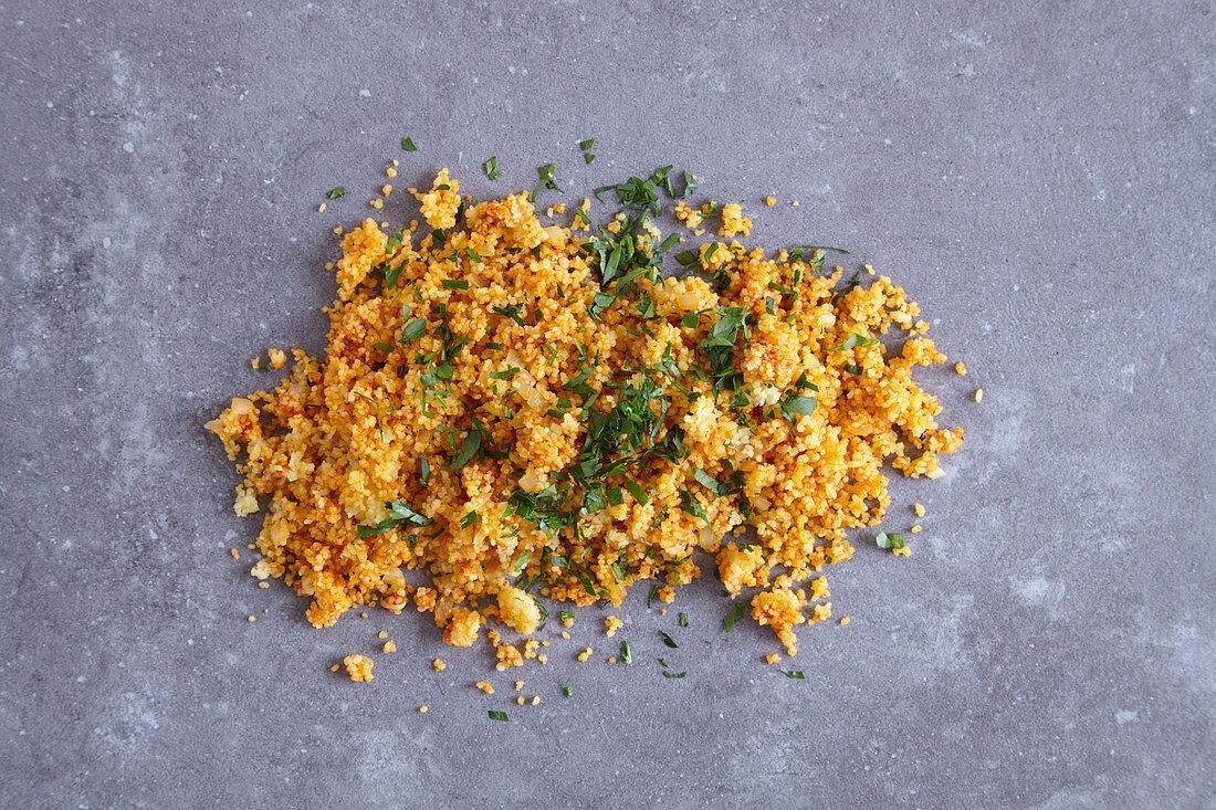 Vegan harissa couscous (a side for a tagine dish)