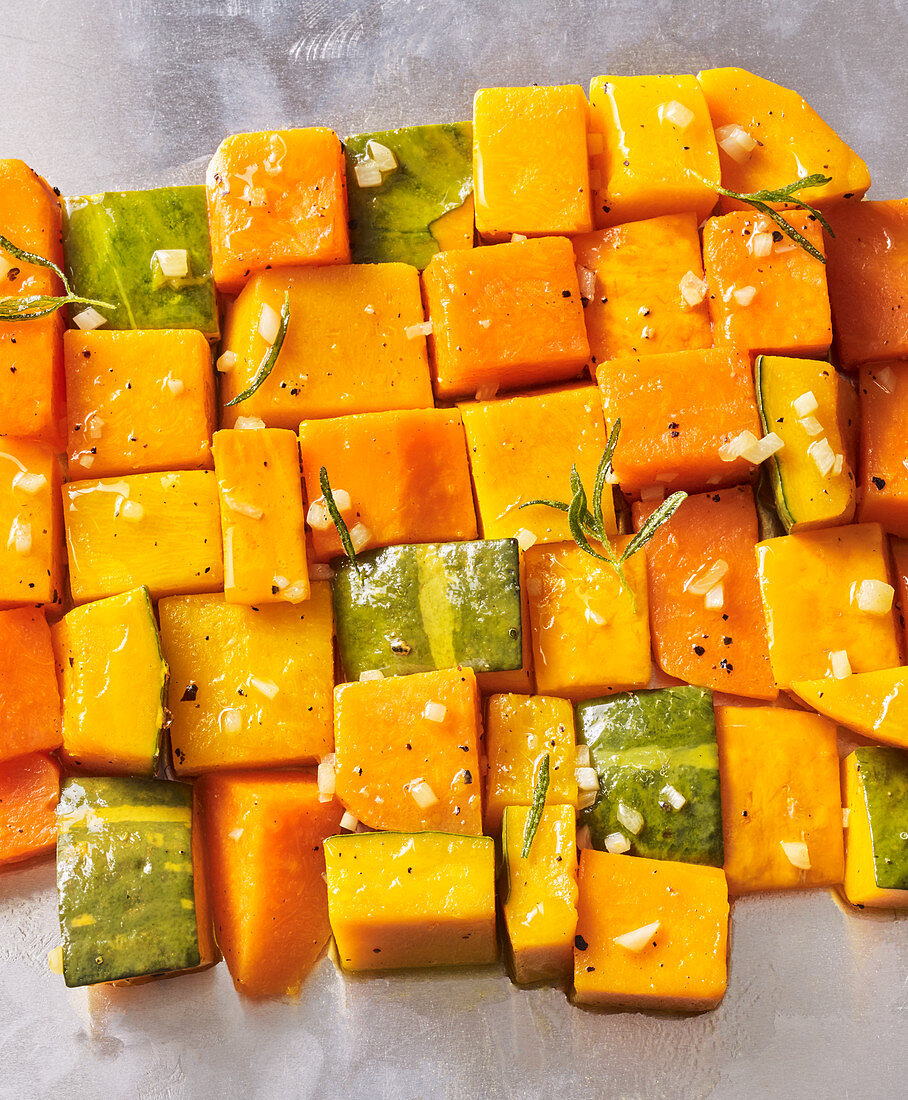 Sautéed diced pumpkin