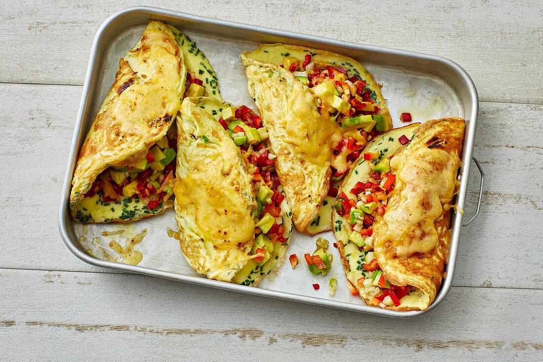 Überbackenes Avocado-Omelett (Low Carb)