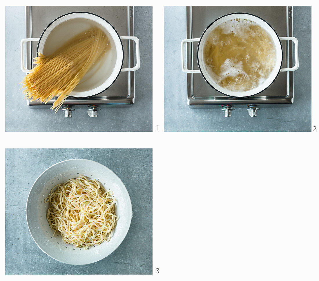 Cooking spaghetti (US-English Voice Over)