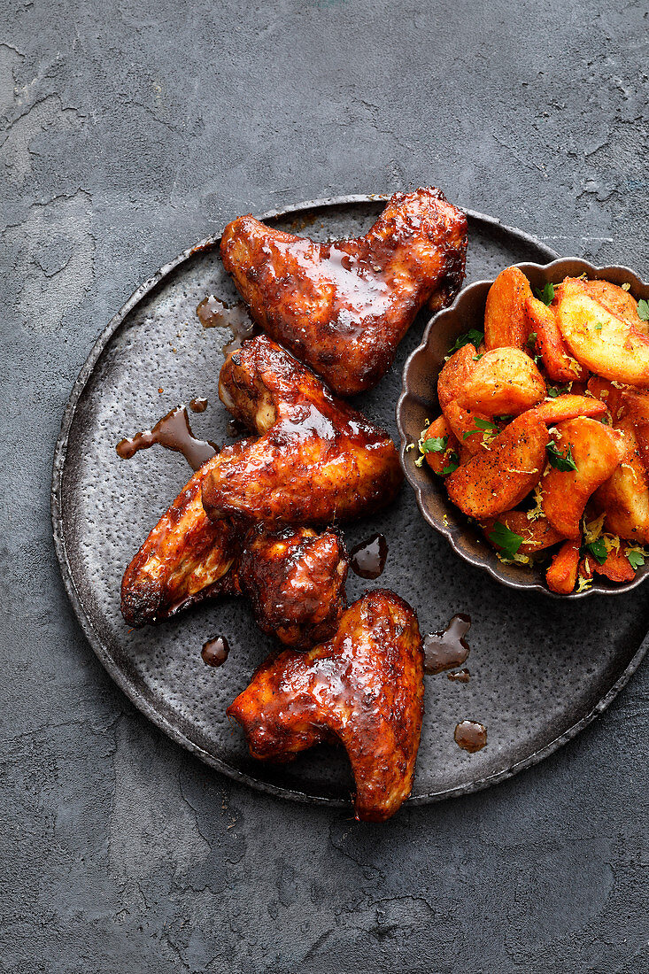 Sous vide jerk chicken wings (Jamaica)
