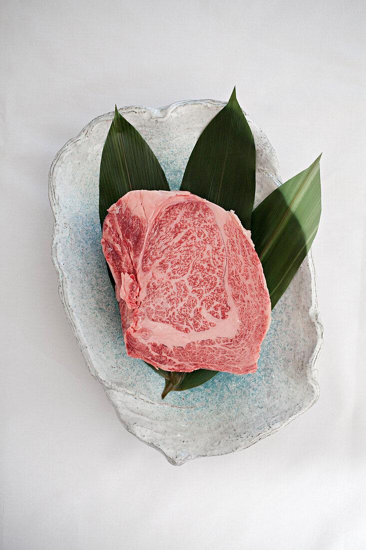 Wagu beef, uncooked