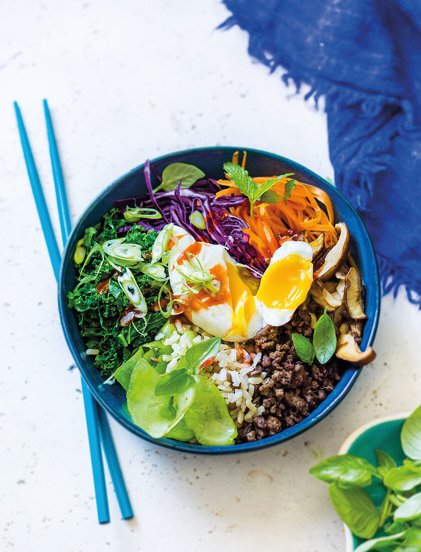 Rainbow Bibimbap bowl