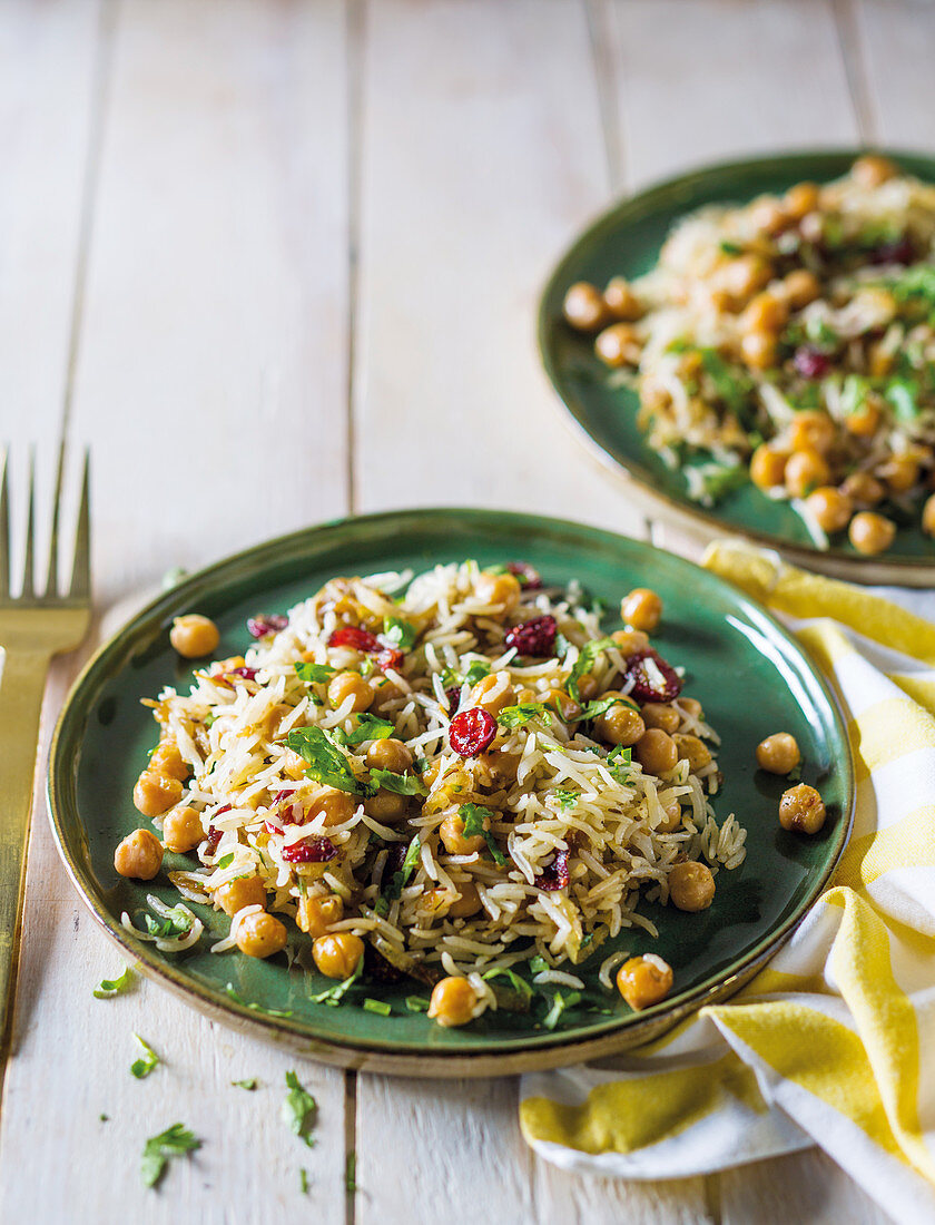 Chickpea and cranberry rice