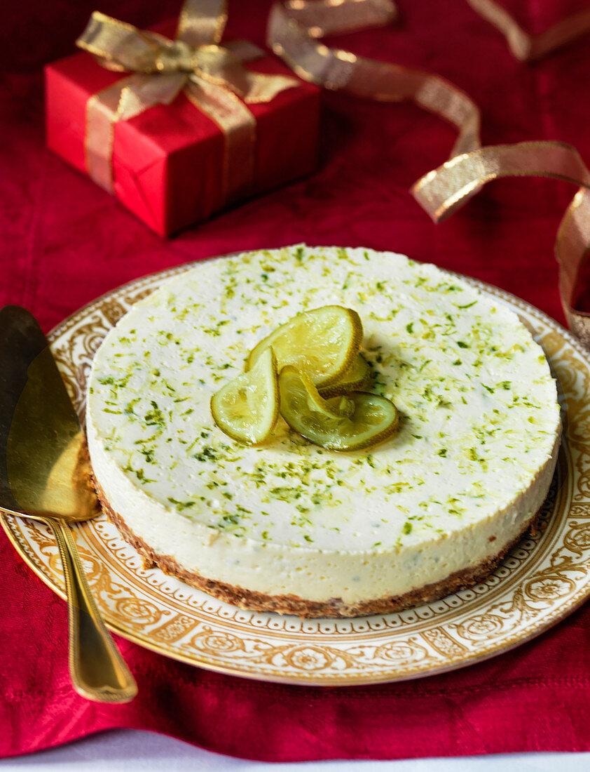 Fresh lime cheesecake (Christmas)