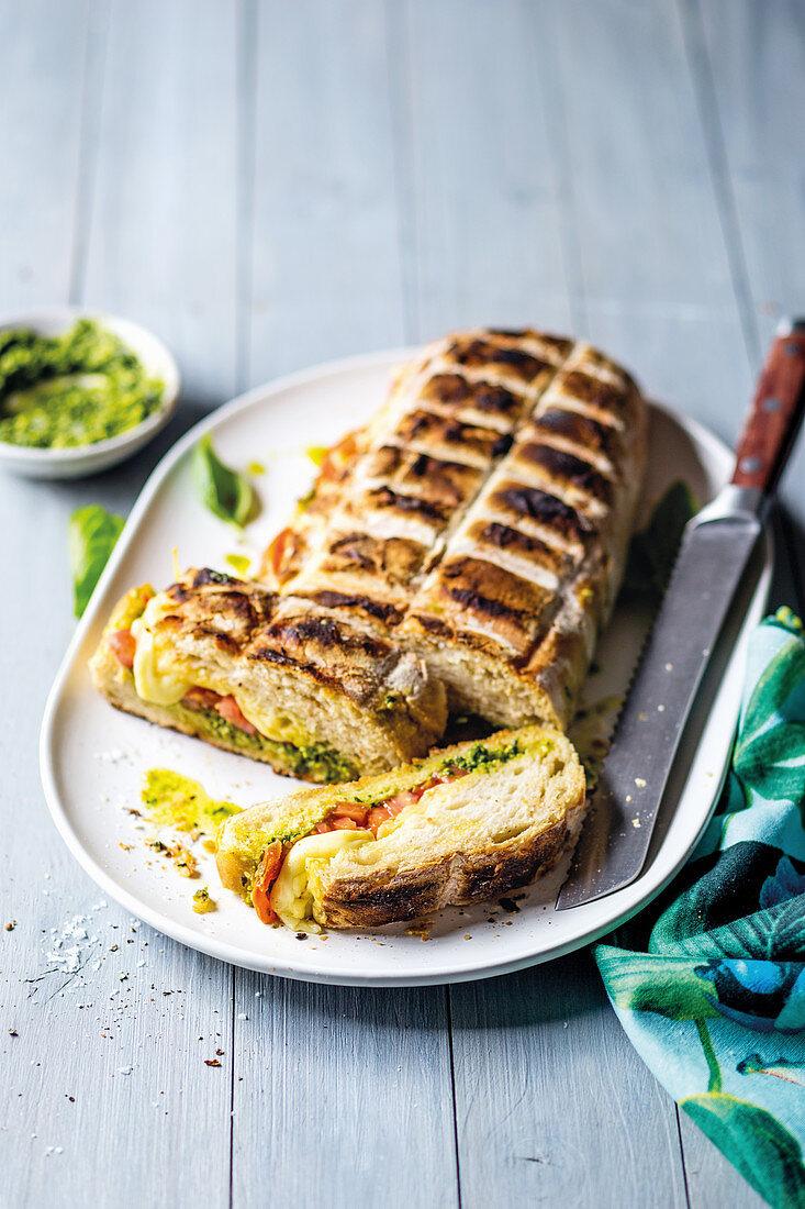Grilled vegetarian ciabatta