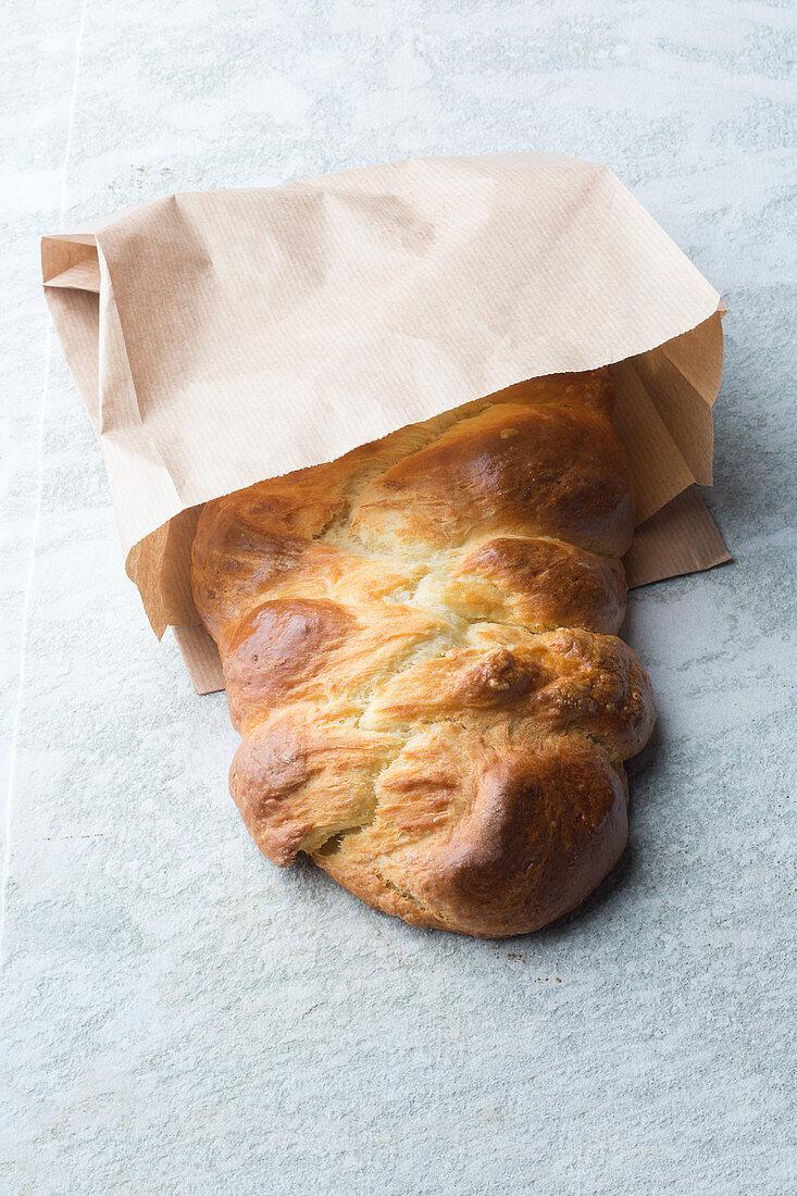 A quick quark bread plait
