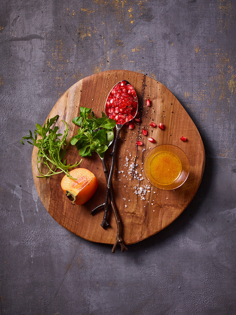 Ingredients for a fresh fruit salad