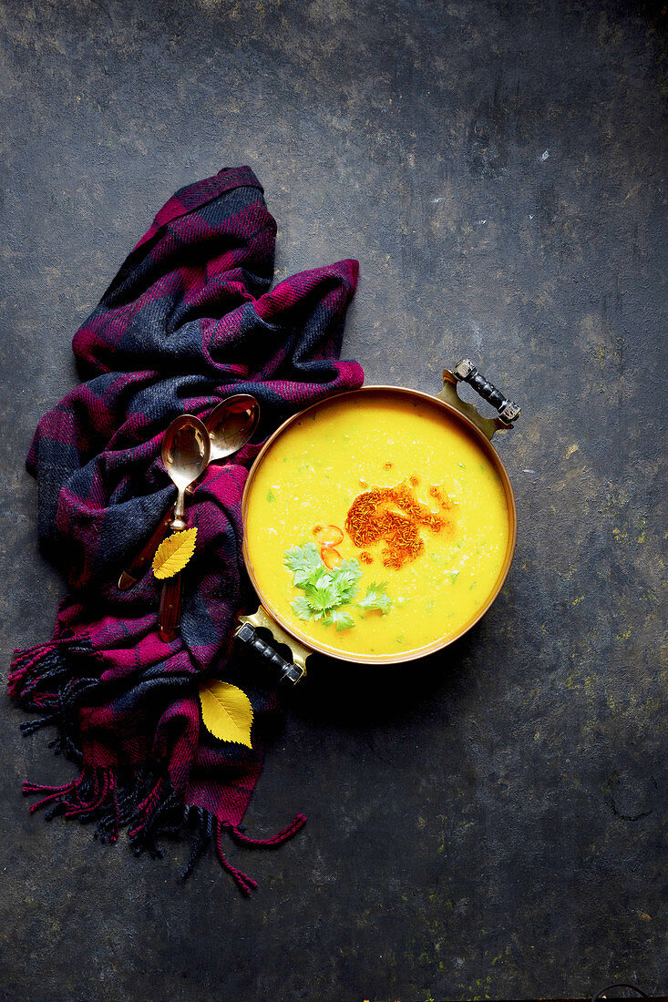 Pumpkin Kitcharee Soup (India)