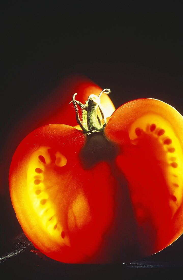 Halved Tomato with Back Light