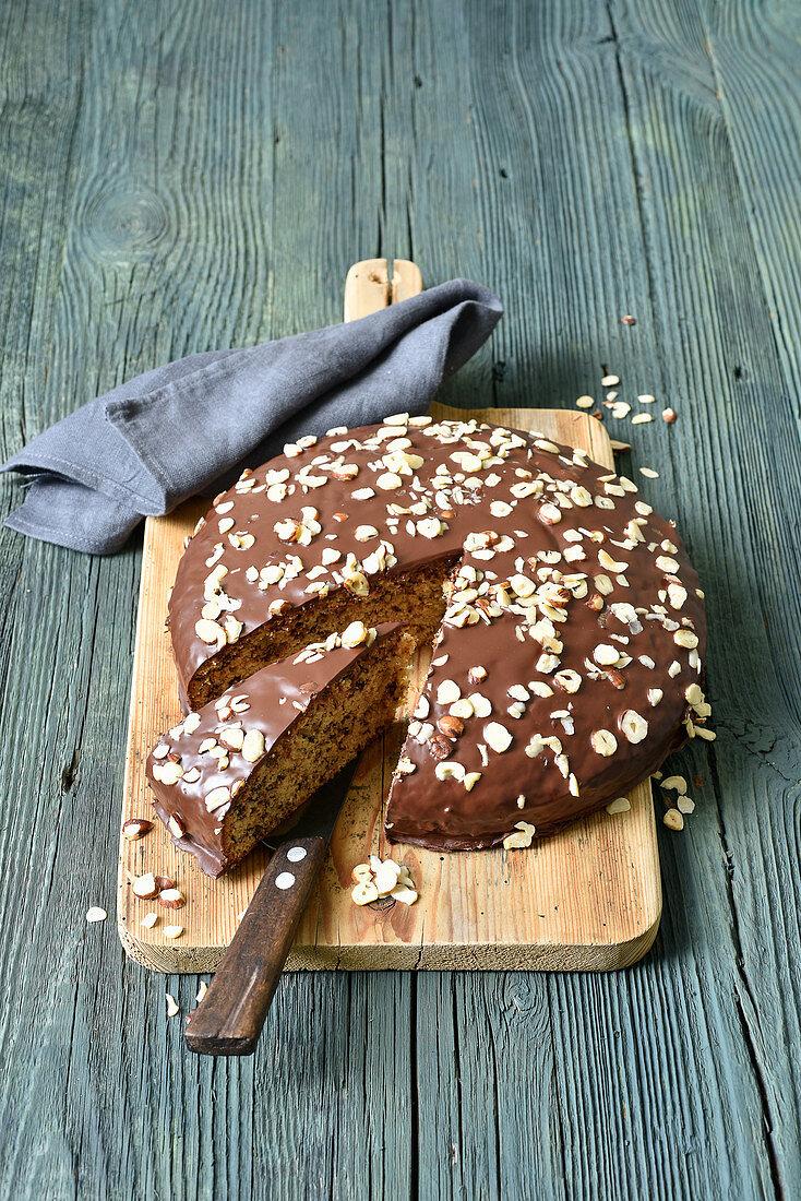 Nut cake with Irish Cream