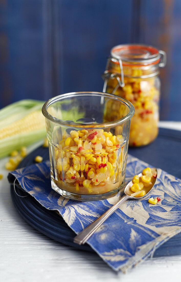 Sweet corn Relish