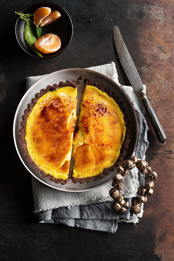 Clementines tart brulee