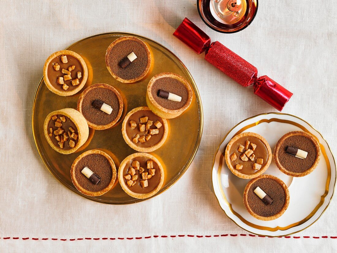 Salted Caramel And Irish Cream Mini Tarts