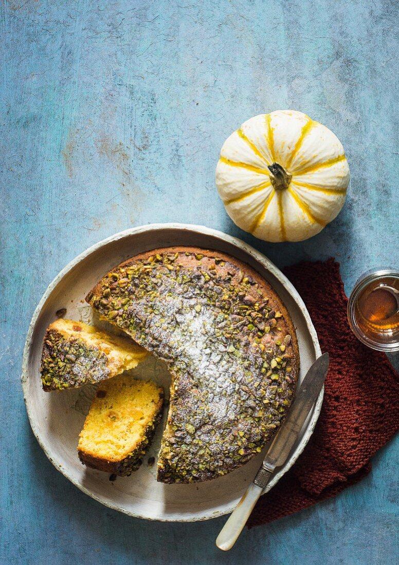 Pumpkin Apricot Pistachio Cake