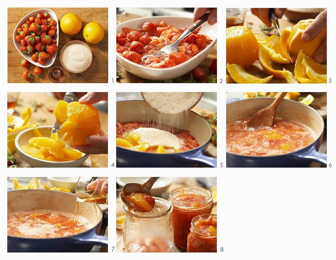 How to make orange and strawberry jam