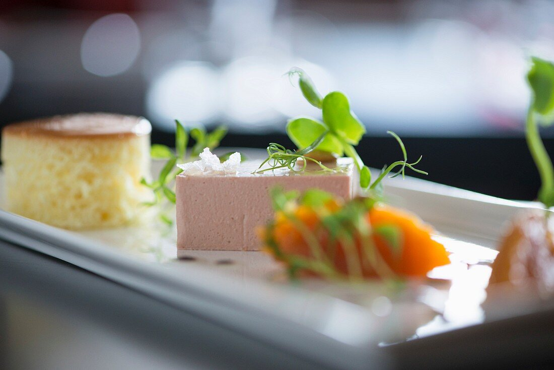 Pate, brioche and marmalade food from a fine dining restaurant