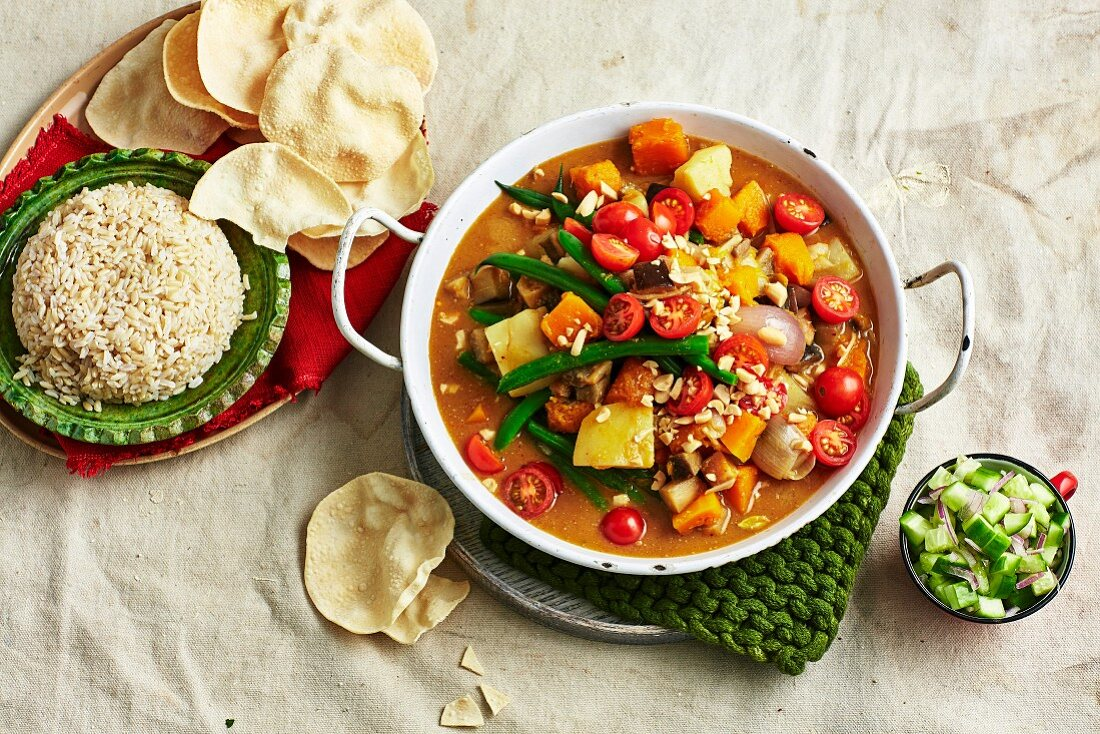 Pumpkin and Eggplant Massaman Curry