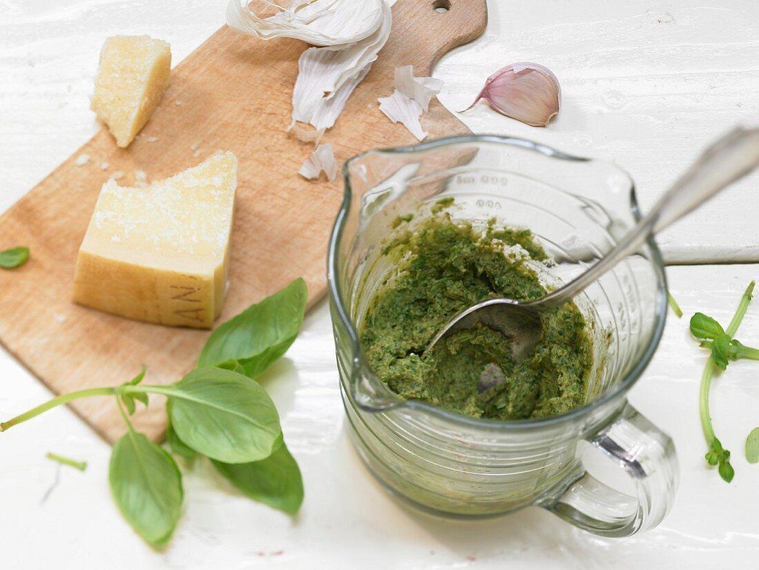 Light pesto (basic recipe)