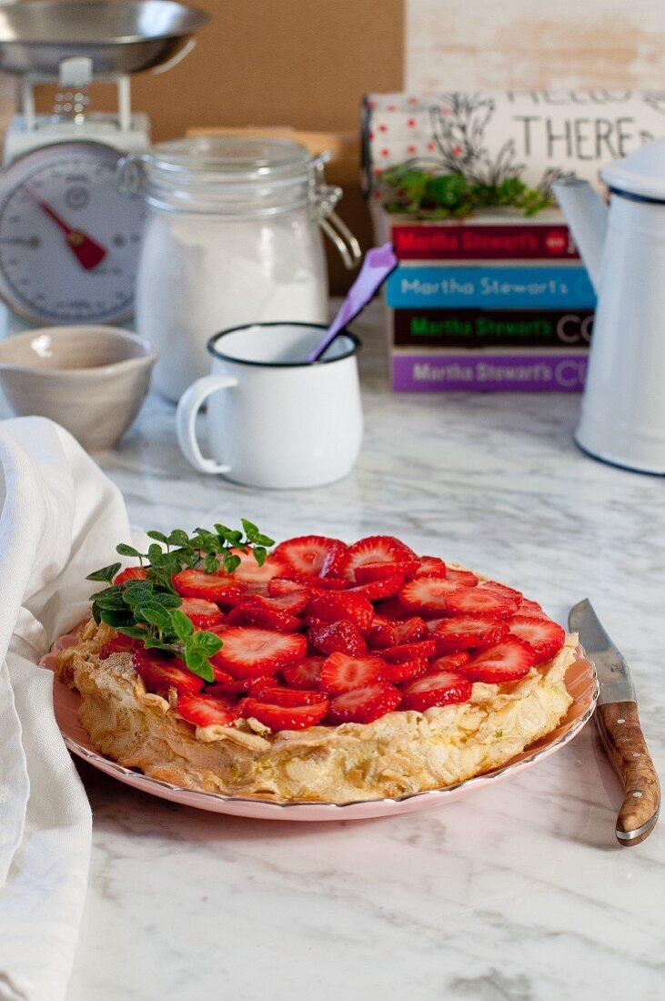 Strawberries galette