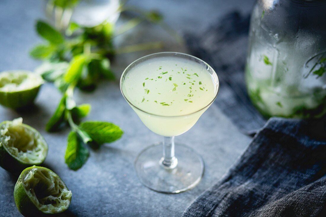 Gin and mint cocktail