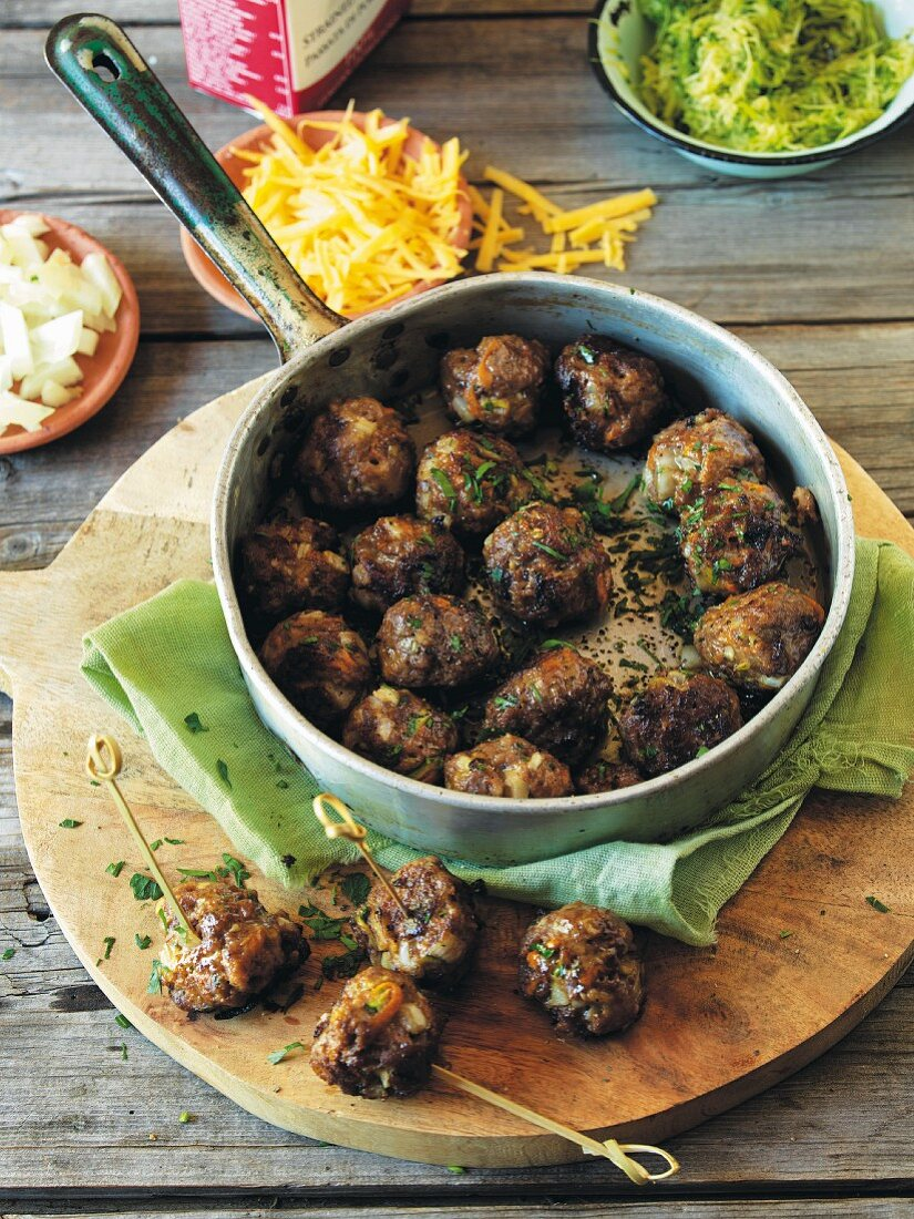 Cheese and vegetable balls