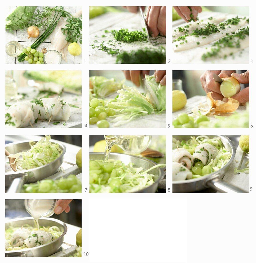 How to make plaice rolls