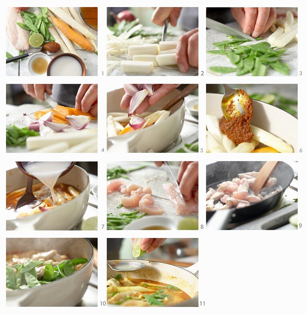 How to make an asparagus curry