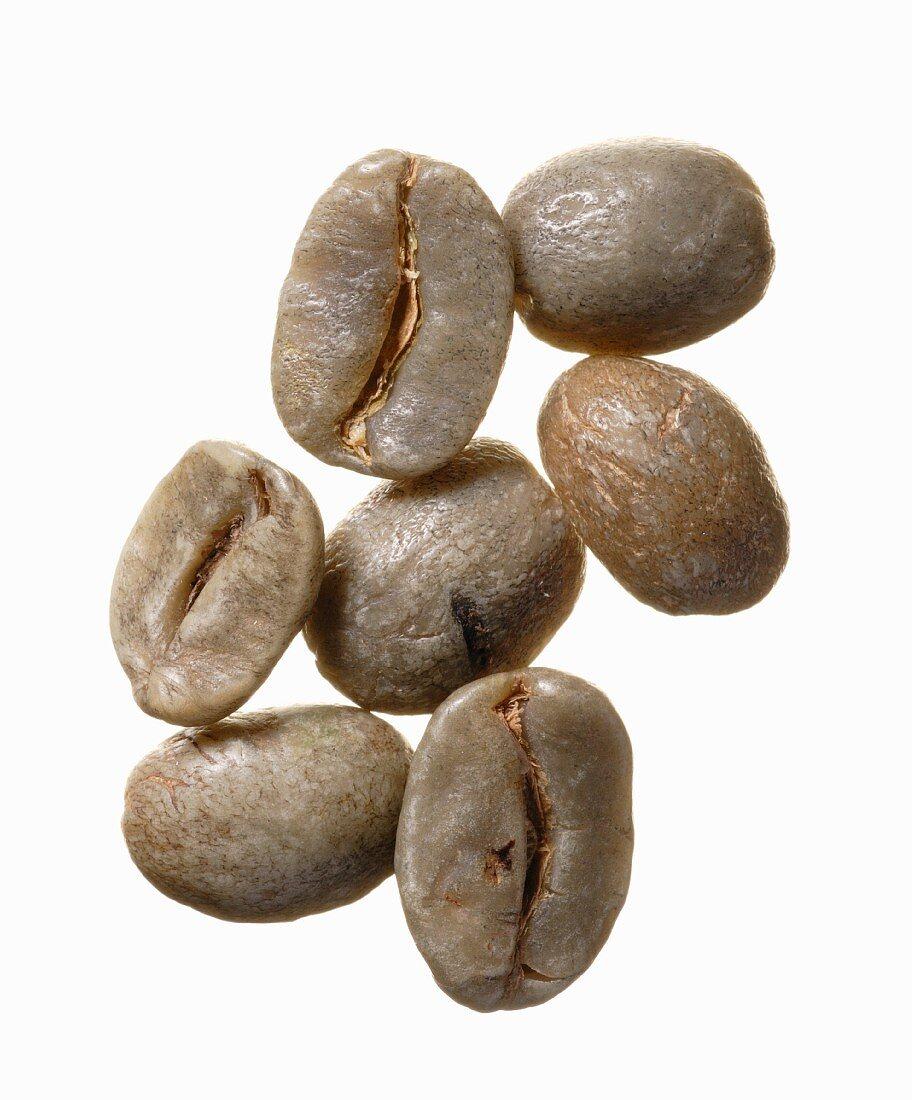 Unroasted Costarica Tournon coffee beans