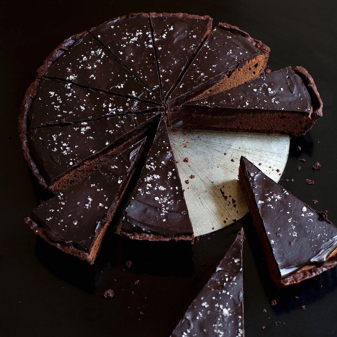 Mississippi mud pie (chocolate pie, USA)