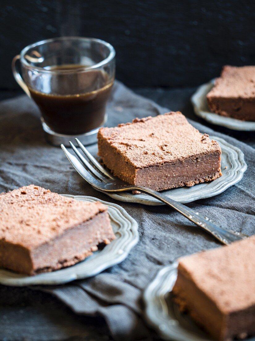 Healthy flourless gluten-free sweet potato brownies.